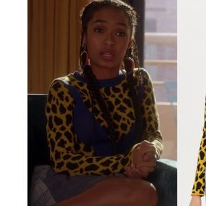 a63a1a669b2f Topshop Sweaters | Chevron Leopard Sweater | Poshmark